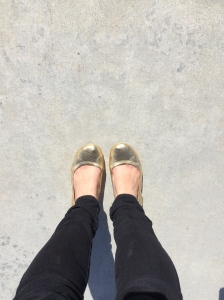 Everyone should get a pair of gold shoes, they make you feel like YOU'RE FUCKING AMAZING!!!!